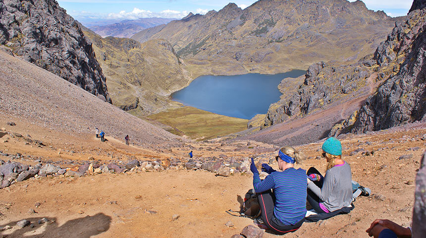 the Ipsaycocha lake